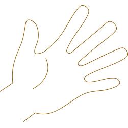 紙を使うならなるべく細目。手に力を入れすぎないように。