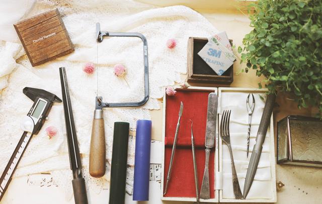 ジュエリー作りの道具たち