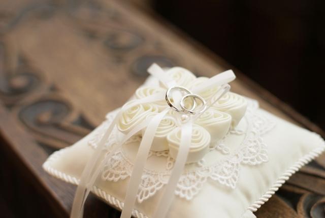 結婚指輪のリングピロー事情