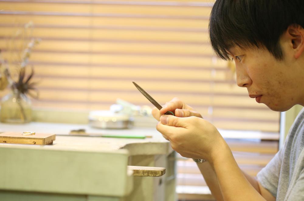 柳沢様の手作り婚約指輪