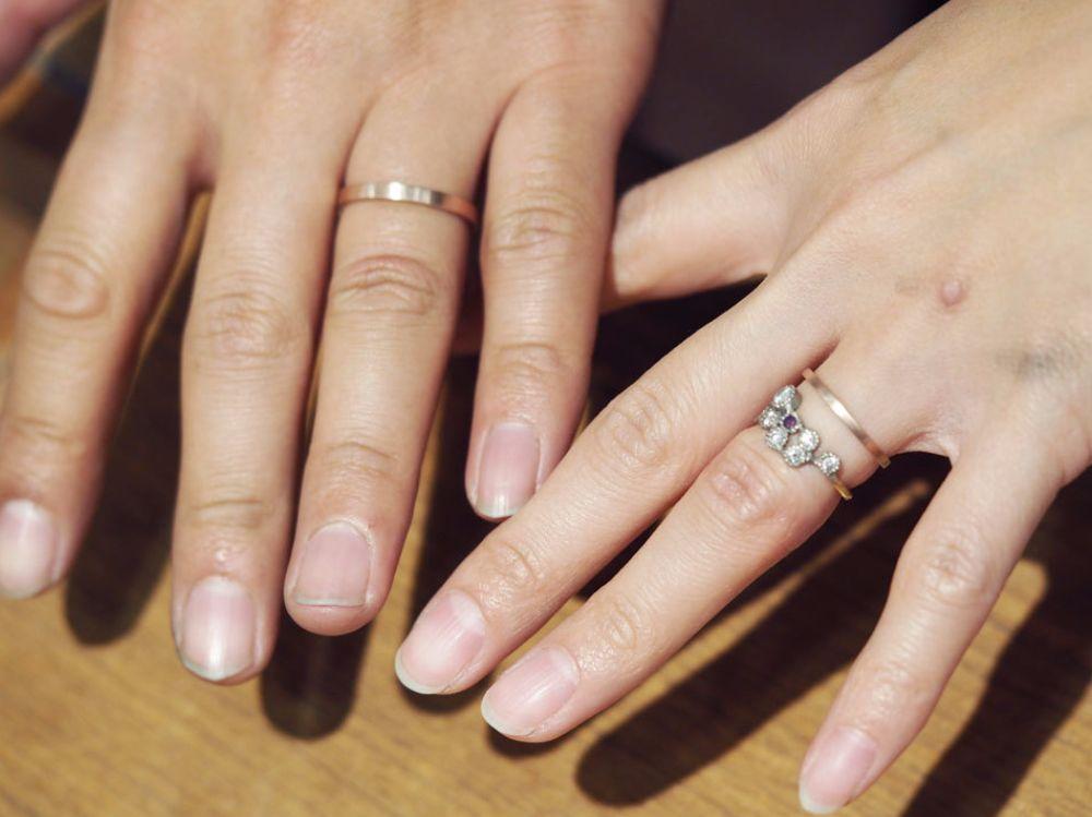 曽我様ご夫婦の手作り結婚指輪