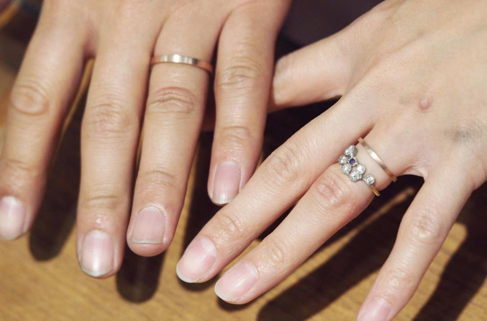曽我様ご夫婦の 手作り結婚指輪