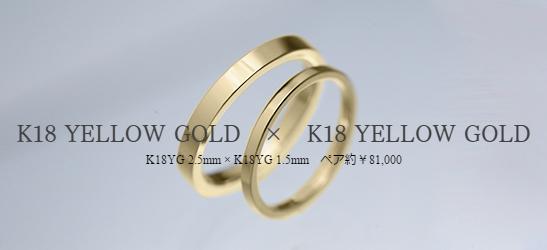 K18 YELLOW GOLD × K18 YELLOW GOLD