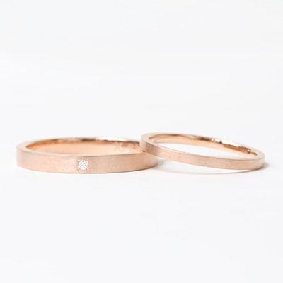 手作り結婚指輪コース | フラットタイプ マット仕上げ