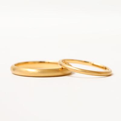 手作り結婚指輪コース | 甲丸タイプ  マット仕上げ