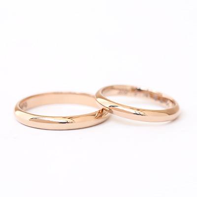 手作り結婚指輪コース | 甲丸タイプ  鏡面仕上げ
